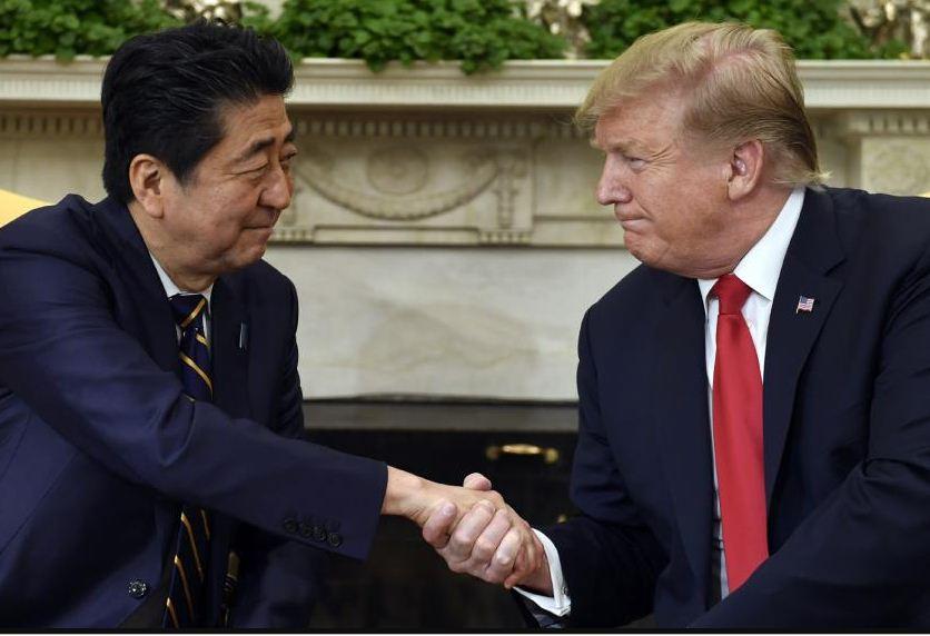 अमेरिकी राष्ट्रपति र जापानी प्रधानमन्त्रीबीच भेटवार्ता