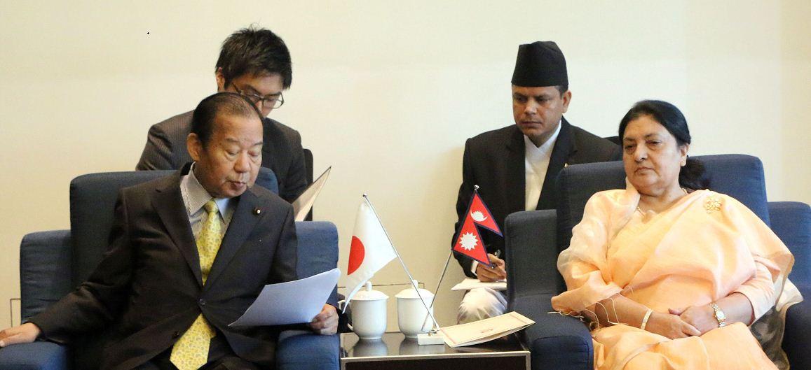 राष्ट्रपति भण्डारी र जापानी उपप्रमुख तोशिहिरोबीच भेटवार्ता