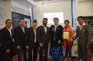 नेपाली भाषा कक्षाको दोश्रो चरण शिक्षिका भट्टलाई सम्मान गर्दै सम्पन्न