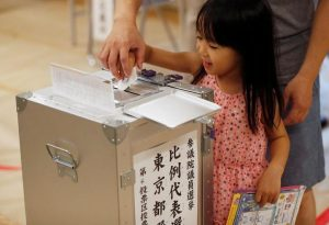 जापानको माथिल्लो सदनका लागि मतदान सम्पन्न