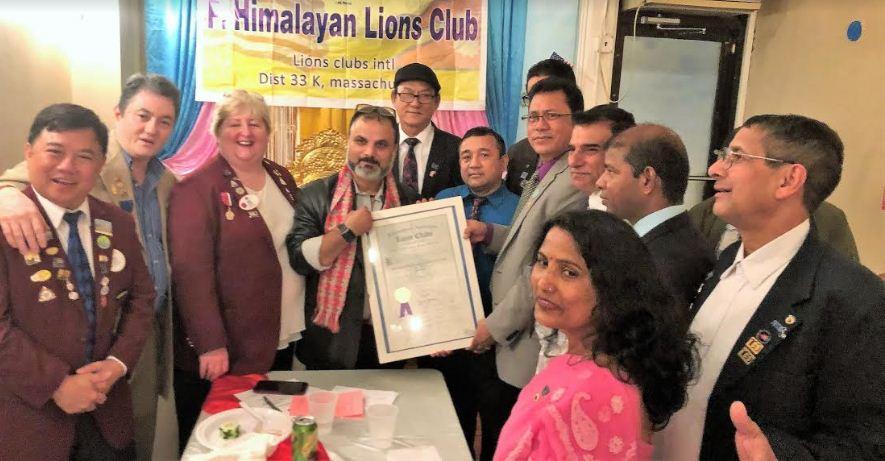 हिमालयन लायन्स क्लबको पदस्थापन सम्पन्न