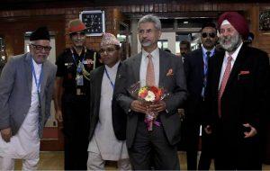 भारतका बाह्य मामिलामन्त्री जयशङ्कर त्रिभुवन विमानस्थलमा