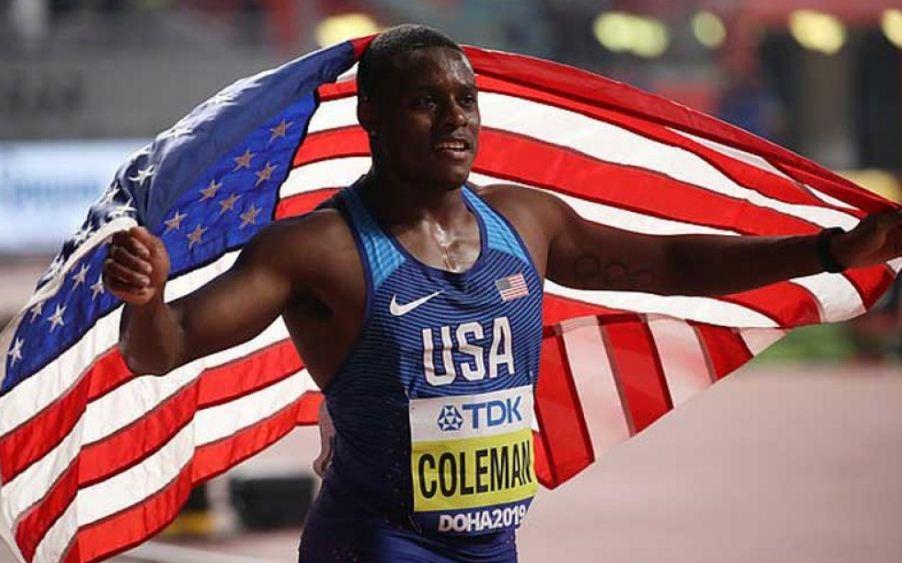अमेरिकी धावक क्रिस्टियन कोलम्यान