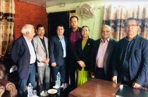 गैरआवसीय नेपाली संघका पदाधिकारी तथा राज्य व्यवस्था तथा सुशासन समितिका सभापतिबीच भेटवार्ता