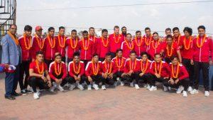 म्यान्मारसंग मैत्रीपूर्ण खेल खेल्दै नेपाल
